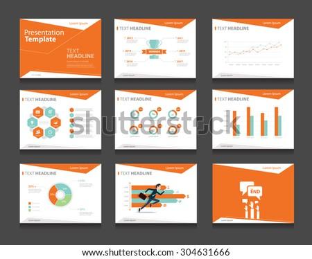 vector business presentation slides template graphs stock vector, Presentation templates