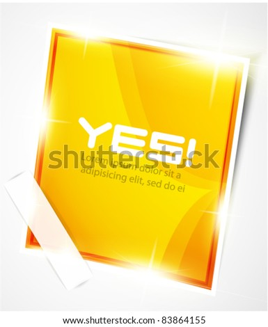 Orange vector label - stock vector
