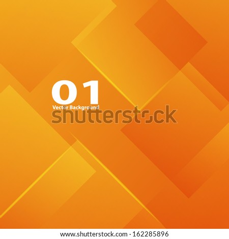 Orange vertical lines abstraction - stock vector