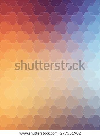 Orange Violet polygonal background for your web design - stock vector