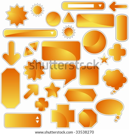 orange web icon set