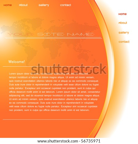 orange web template design