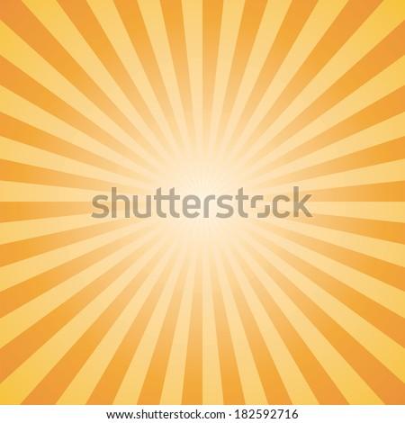 orange-yellow color burst background. Vector illustration - stock vector