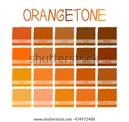 Orangetone Color Tone With Name Vector Illustration