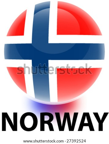 Orb Norway Flag - stock vector