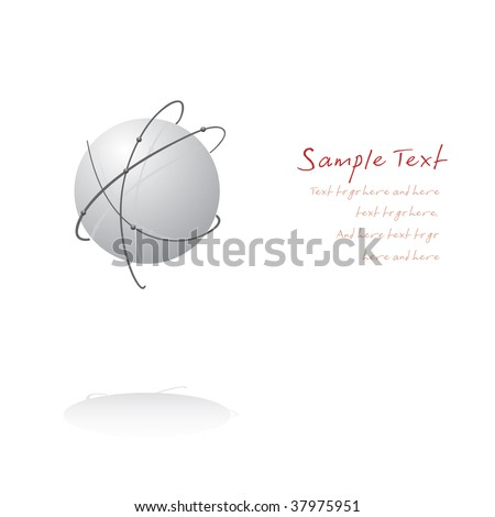 Orbit background with text area - stock vector