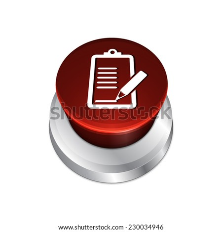 Order list button with list and pen icon  - stock vector