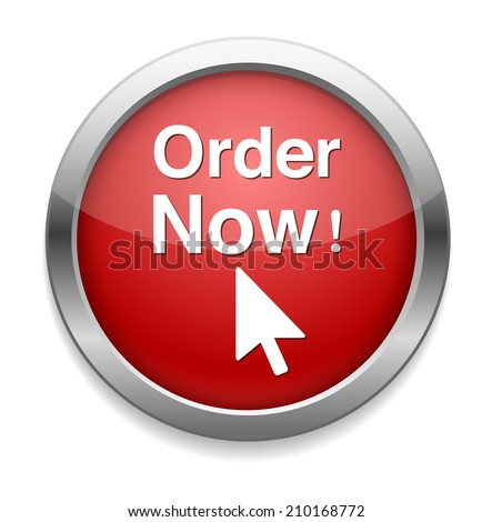 Order now button - stock vector