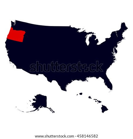 Oregon State In The United States Map
