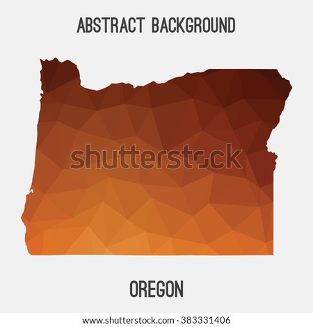 Oregon state map in geometric polygonal style.Abstract tessellation,modern design background. Vector illustration EPS8 - stock vector