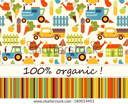 Organic agriculture background - stock vector