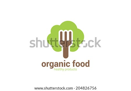 Organic Health Food products vector logo design template. Green Healthy Life concept icon. - stock vector