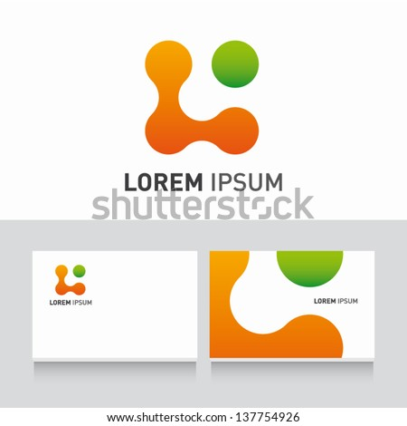 organic icon vector design elements with business card template editable - stock vector