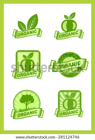 Organic, nature sign, emblem, logo, label