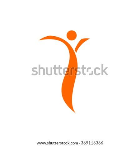 Organic people logo - stock vector