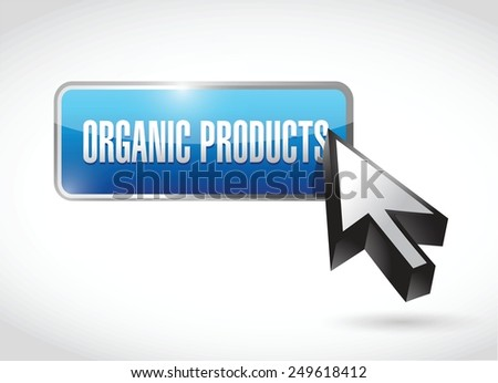organic product button illustration design over a white background - stock vector