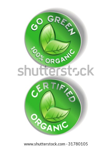 Organic Sticker Graphic - Vector Illustration