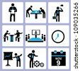 organization, business, company icon set, vector set - stock vector