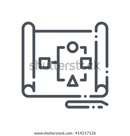Organization, data sheet icon suitable for info graphics, websites and print media and  interfaces. Hand drawn style, pixel perfect line vector icon. - stock vector