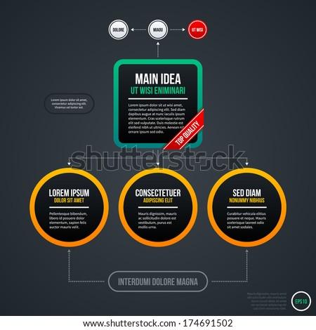 Organizational Chart Template Useful Web Design Stock Vector