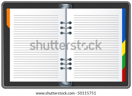 Organizer - stock vector