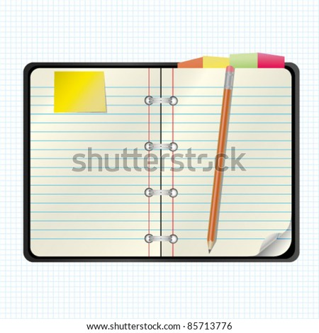 organizer blank - stock vector