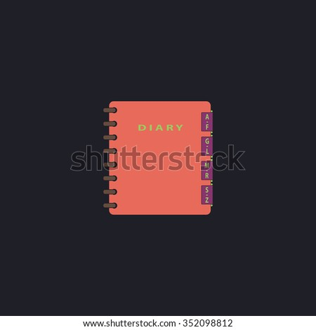 Organizer Color vector icon on dark background - stock vector