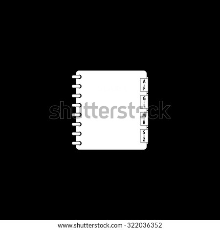 Organizer. Simple flat icon. Black and white. Vector illustration - stock vector