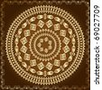 oriental arabesque pattern gold - stock vector
