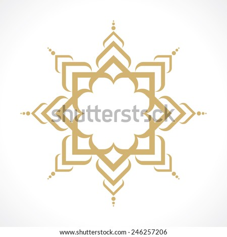 oriental arabic pattern - stock vector