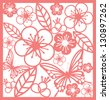 oriental/chinese paper cutting vector/illustration - stock vector