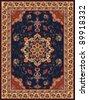 Oriental Floral Carpet Design - stock vector