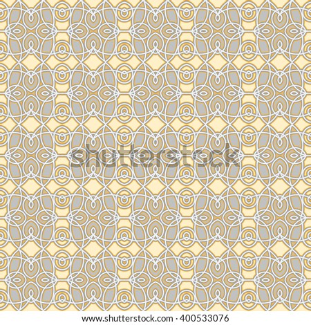 Oriental geometric seamless vector pattern in quiet colors. Endless ornamental textures for wallpapers or background.