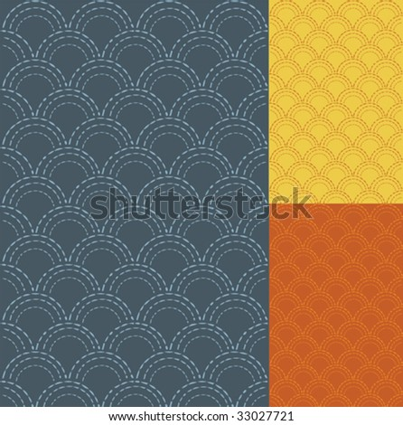 Oriental, japanese traditional pattern, vector format - stock vector