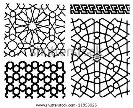 oriental patterns - stock vector