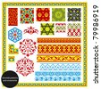Oriental patterns and ornaments. Vector illustration. - stock vector