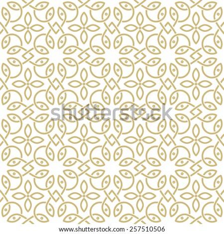 oriental seamless ornamental pattern - stock vector