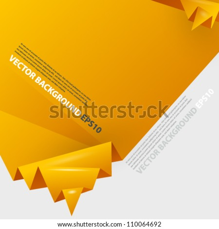 Origami abstract background with place for text. Image contains transparent lights and shadows. 10 EPS - stock vector