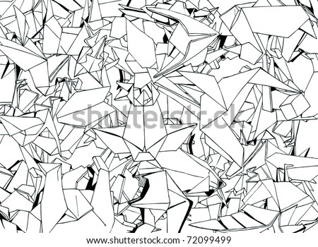 Origami Animals Set (vector) - stock vector
