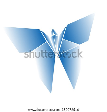 Origami butterfly - stock vector
