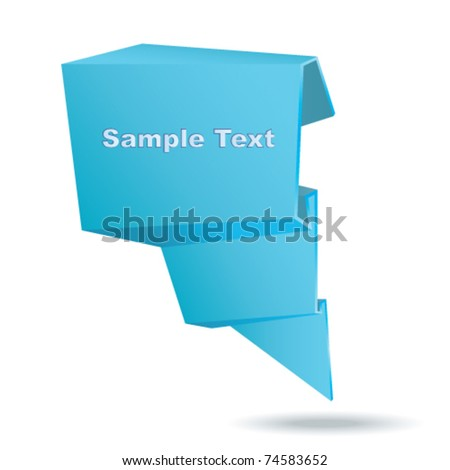 Origami 3d banner. Vector. - stock vector