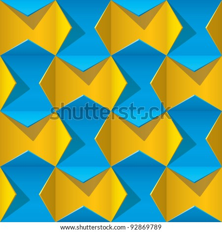 origami 3D pattern
