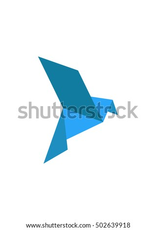 Origami Dove Stock Vector 502639918