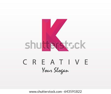 Origami Letter K Logo Vector