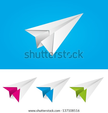 Vector Paper Plane Icon Symbol Set Stock Vector 157385075 ...