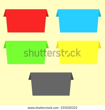 Origami paper banner - stock vector