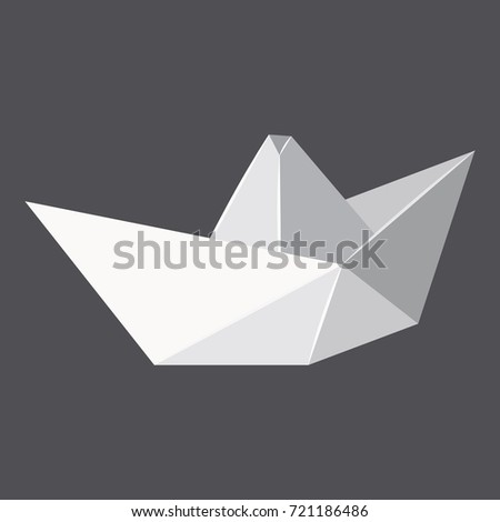 Origami paper boat concept background. Realistic illustration of origami paper boat vector concept background for web design