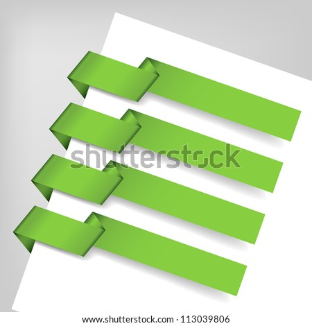 Origami Paper tag with transparent shadows. Vector. - stock vector