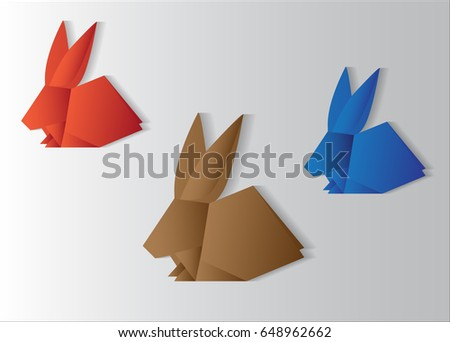 Origami Rabbit Vector Can Use Easter Stock Vector 648962662
