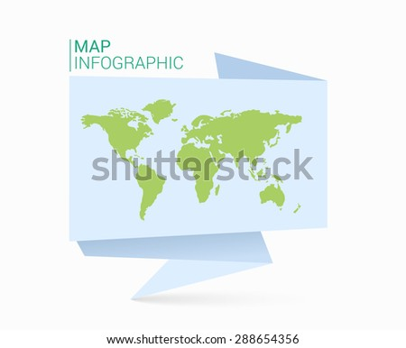 World map on white boxes vectores en stock 55932970 shutterstock origami speech bubble world map gumiabroncs Choice Image